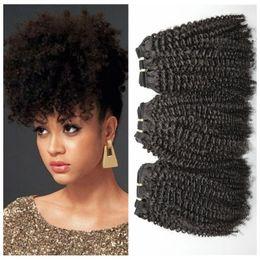 Afro kinky humAn hAir 3pcs online shopping - Peruvian curly Hair Afro kinky Curly Human Hair Weave Bundles Unprocessed Peruvian Hair wefts G EASY