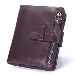 China Wholesale- New Brand men wallets dollar price purse Genuine leather wallet card holder designer clutch business mini wallet high quality supplier man pocket purse price suppliers