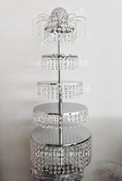 cupcake rack stand Canada - Crystal Acrylic Wedding Cake Stand Dessert Table Cake Rack Wedding Centerpiece Cupcake Stand