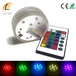 Waterproof Remote Control Light Switch Australia - cheaper 10 SMD5050 LED Multi Color Submersible Waterproof Wedding Party Vase Base Light With 24 Keys Remote Control For Hookah Shisha