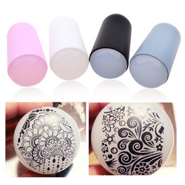 Barato Selos De Selo Diy-1PC New Printing Silicone Super Soft Nail Art Silicone Gel Stamp Template Nail Art DIY Design Tool