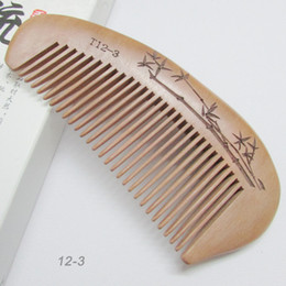 Mahogany Hair Canada - New genuine mahogany carved natural evil carved wooden comb comb wholesale high-grade health anti-static