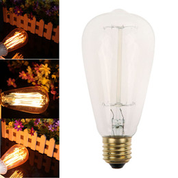New Vintage Retro Filament Edison Industrial Style Light Bulb E27 ST64 40W Retro Edison L& Vintage Filament Vintage E27 orderu003c$18no track  sc 1 st  DHgate.com & Edison Track Lighting Online | Track Lighting Edison Bulbs for Sale azcodes.com