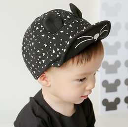 $enCountryForm.capitalKeyWord Canada - New Baby Kids Baseball Cap Infant Children Cartoon Hiphop Hats Ball Cap Peaked Caps Child Boys Girls Sunhat White Black 11463