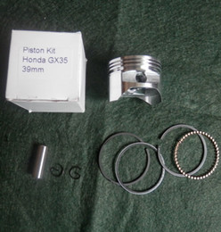 ring parts Canada - Piston kit 39MM for Honda GX35 4 stroke engine free shipping piston+ ring+ pin +clip replacement part P N 13101-Z0Z-000
