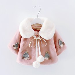 Patrones De Vestuario Baratos-2017 Sweety princesa disfraces de Halloween para las niñas se ruborizan Pink Flower Girl Wedding Coat lindo patrón de los niños Cloak En Stock