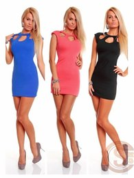 Sexy Blue Clothes For Women Canada - 2017 New Fashion Club Wear Dress for Women Sexy Dress Happy Club Dress Party clothing women's 3 kinds of color
