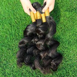 Human Bulk Braiding Hair Extension Canada - Unprocessed Curly Braiding Human Hair 3 Bundles Deal Cheap Brazilian Loose Wave Hair Extensions In Bulk For Micro Braids Top Bulk Hair
