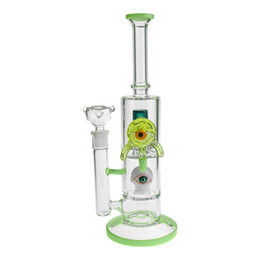 heady oil dab rigs UK - New Glass Jet Perc Heavy Eye design Glass Bong bubbler water pipes heady oil rigs Water Pipes bongs dab rig colorful glass