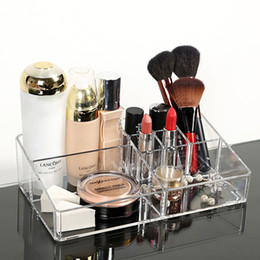 $enCountryForm.capitalKeyWord Canada - Wholesale-Acrylic Cosmetic Organizer Clear Makeup Jewelry Cosmetic Storage Display Box Acrylic Case Stand Rack Holder Organizer Boxes