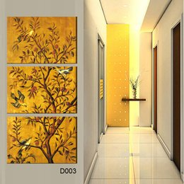 $enCountryForm.capitalKeyWord NZ - 3 Pieces popular Hot Sell Modern Wall Painting flower&bird Home Wall Art Picture Paint on Canvas Prints