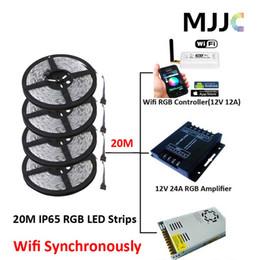 $enCountryForm.capitalKeyWord Canada - Synchronously 20M SMD 5050 Waterproof IP65 RGB Multi Color LED Strip Light + Mini Wifi 12A RGB Controller +12V 25A 300W Power Supply