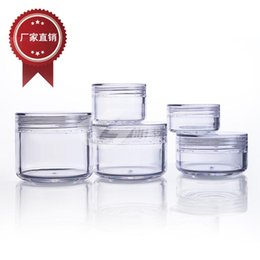 China 3g 5g 10g 15g 20g plastic jars small round cream bottle jars plastic cosmetic container free shipping suppliers