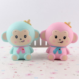 original package squishy Canada - New Squishy Jumbo Kawaii Monkey Cake 12cm Scented Slow Rising Original Packaging Collection Kid toys Gift Decor