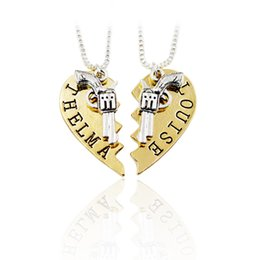 Shop broken pendant uk broken pendant free delivery to uk dhgate uk broken pendant uk 2 pcs set guns broken heart pistol gun pendant necklace thelma aloadofball Choice Image