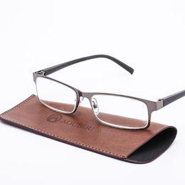 7f106f8915b Wholesale Brand High-end Business Reading Glasses Men Stainless Steel PD62  Glasses Ochki 1.75+3.25 Degree affordable brands reading glasses