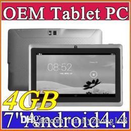 A33 Quad Core Tablet Australia - 7 Inch Q88 ALLwinner A33 Quad Core Tablet PC 4GB 512MB 1.5GHz Android 4.4 HD Tablets Dual Cameras C-7PB