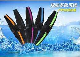 Waterproofing Iphone For Running NZ - Waist bag Casual Waist Pack Sport bag Waterproof Running Bags Single Double Bags Purse Mobile Phone Case for SAMSUNG IPHONE pocket