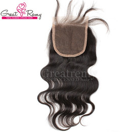 "$enCountryForm.capitalKeyWord Canada - 100% Unprocessed Indian Virgin Human Hair Weave 8""-24"" Natural Color Body Wave Retail 1 piece Lace Top Closure 4*4 Hairpieces Greatremy Sale"