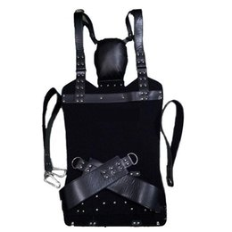 swing restraint NZ - HOT Leather Sex Love Swing Adult Swing Sling Restraints D Rings Sex Swing Chair