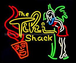 "$enCountryForm.capitalKeyWord Canada - The Tiki Shack Beer Bar Neon Sign Customized Store KTV Club Disco Advertisement Display Real Glass Tube Neon Light Signs 24""X24"""