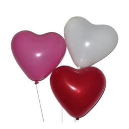 Wholesale Heart Shaped Balloon NZ - 50pcs Latex Balloons Heart Shaped Thickening Pearl Balloons Wedding Supplies Party Birthday Balloon (Three Color Mixed)