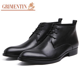 $enCountryForm.capitalKeyWord Canada - GRIMENTIN Hot sale brand mens boots genuine leather lace up black Italian formal business dress mens ankle boots for fashion mens shoes