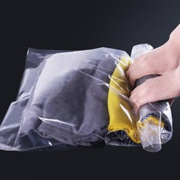 $enCountryForm.capitalKeyWord Canada - 10pcs lot Use Without Air Pump 37*53 New Design Space Saver Travel Compress Vacuum Roll-Up Storage Bag