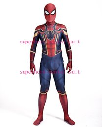 $enCountryForm.capitalKeyWord Canada - New Iron-Spider Homecoming Spiderman Costume Cosplay 3D Print Zentai Iron Spider-man Movies Costumes Spidey Iron Suit Hot Sale