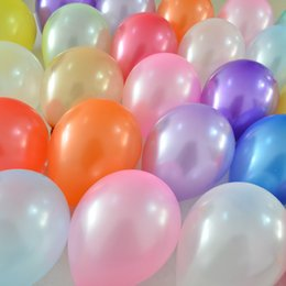 Animal Wedding Toppers Canada - 100pcs Latex Round Balloon Party Colors Pearl Balloons Wedding Happy Birthday Anniversary Decor 10 inch new