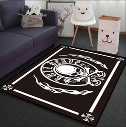 white washable rugs one piece black coral fleece skull rug for bathroom indoor area rug - Washable Rugs