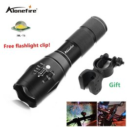 T6 Bike Canada - AloneFire G700 E17 XM-L T6 Zoomable 3800LM led Flashlight Bike Light Front Torch Waterproof Adjustable Focus Zoom Torch Lights+bike clip