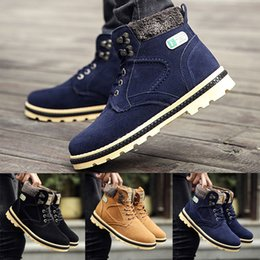 $enCountryForm.capitalKeyWord Canada - HOT sale brand new free shipping Mens Casual Winter Fur Lined Combat Lace Up Working Boots High Top Riding Shoes men martin boots