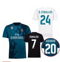 65499c38711 2017 Real Madrid away 3rd jersey 2018 Ronaldo Soccer jersey MODRIC LUCAS V  BALE KROOS ISCO BENZEMA football shirts Camisa new jersey
