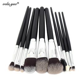 $enCountryForm.capitalKeyWord NZ - 10pcs Professional Makeup Brushes Set High Quality Makeup Tools Kit Premium Full Function Synthetic Hair Wood Handle Brush