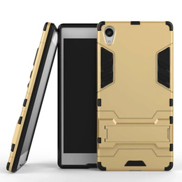 $enCountryForm.capitalKeyWord Canada - For Sony Xperia Z5 Plus HTC One X9 Huawei P20 PRO P8 Lite 2017 P9 Honor 8 5A Ballistic Armor Hybrid Hard PC TPU Case Stand Shockproof Cover