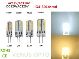 12v rohs led lights NZ - ac110v 220v G4 Day White SMD 3014 24 32 48 64 LED Cabinet Spot Light Lamp Bulb DC 12V 3w 4w 5w 6w