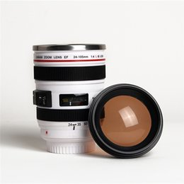 Camera Drink Canada - 6th Generation Caniam Camera Lens Cup Mug Stainless Steel White Black SLR Caniam Canmera Lens Coffee Tea Travel Mug Cups With Lid China