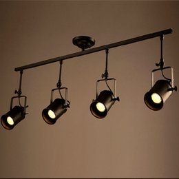 Vintage track lighting Industrial Chic Retro Loft Vintage Led Track Light Industrial Ceiling Lamp Bar Clothing Personality Spotlight Light Four Heads Dhgatecom Vintage Track Lighting Online Shopping Vintage Industrial Track
