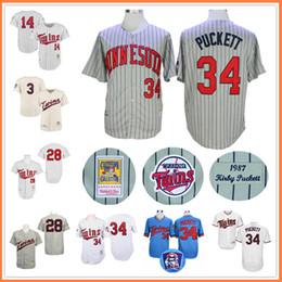 dc495e7978f ... Men Minnesota Twins Jerseys34 Kirby Puckett Jersey Flexbase Cool Base  Home Away White Red Black Grey Minnesota Twins 34 ...