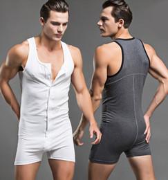 $enCountryForm.capitalKeyWord NZ - Sexy Men Bodysuit Penis Pouch Man Body Suits Brand Man Bodywear Bodybuilding Cotton Sport Tank Top Singlets Gay underwear Set free shipping