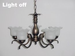 $enCountryForm.capitalKeyWord NZ - For foyer dinning room living room 5 arms Modern art deco E27 bulb copper brass rustic chandelier with glass shade
