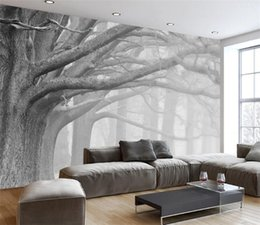 3D wallpaper living room bedroom murals modern black and white forest tree art TV wall murals wallpaper for walls 3 d