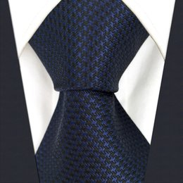 $enCountryForm.capitalKeyWord Canada - Y25 Navy Solid Handmade Jacquard Woven Classic Extra Long Size Men Necktie Tie
