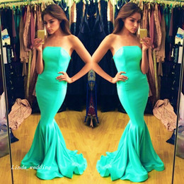 $enCountryForm.capitalKeyWord Canada - 2019 Turquoise Colour Prom Dress Beautiful Strapless Long Special Occasion Dress Evening Party Gown Plus Size vestidos de festa