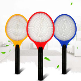 Wholesale 3 Layers Net Dry Cell Hand Racket Electric Swatter Home Garden Pest Control Insect Bug Bat Wasp Zapper Fly Mosquito Killer