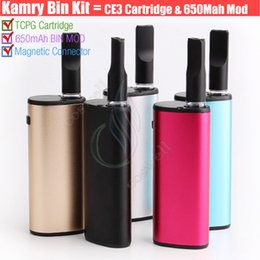China Authentic Kamry BIN 510 cartridge Vape pen Thick Oil BUD CE3 PE Tank Box Vapor Mod Portable kits Atomizer Portable Mini e cig Vaporizers DHL suppliers