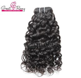Big Curly Hair Weave Canada - 8-34inch Retail 1pc Human Hair Extensions Brazilian Remy Virgin Hair Weaves Water Wave Big Curly Hair Extension Wefts Dyeable Natural Black