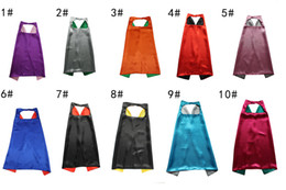 $enCountryForm.capitalKeyWord Canada - 10 colors Double-deck 70*70cm Children Cloak Halloween Costume party Clothing Christmas Cosplay Costumes Green, red, blue, yellow