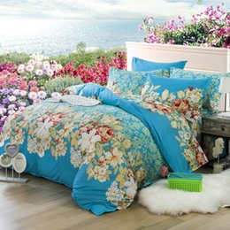 $enCountryForm.capitalKeyWord Canada - 2016 New Fashion Flocked bedding sets flower style bed sheet   duvet cover   pillowcase 4pcs  set Home textile free shipping